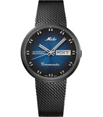 men's mido commander shade automatic mesh strap watch, 37mm