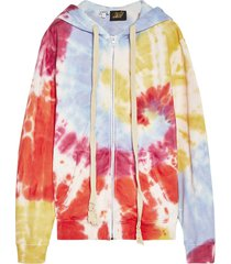 paulas ibiza tie dye zip hoodie