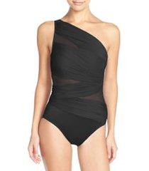 women's miraclesuit jena one-shoulder one-piece swimsuit