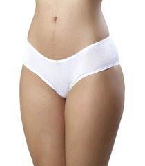 tanga mardelle em tecido modal lateral larga branca - branco - feminino - bambu - dafiti