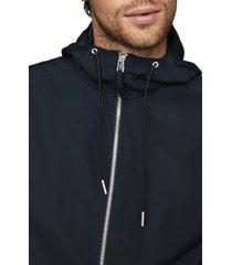 men's reiss zenif hooded jacket, size large - blue