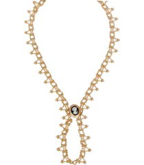 grace kelly collection 18k gold plated fall necklace