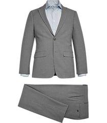 calvin klein skinny fit suit light gray