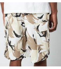 kenzo men's tropic camo printed cargo shorts - off white - w30