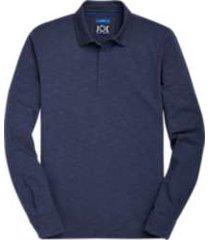 joe joseph abboud blue long sleeve polo shirt