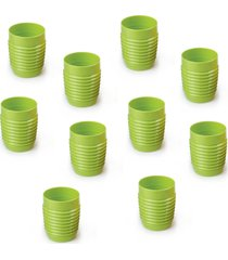 conjunto copo verão suco/água 350ml plástico - 10 peças