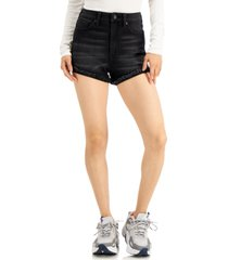 kendall + kylie juniors' curvy high-rise denim shorts
