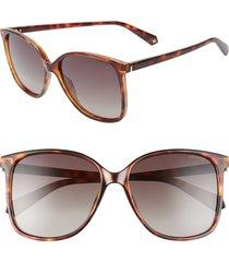 women's polaroid 57mm polarized sunglasses -