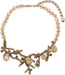 crystal budding branches necklace