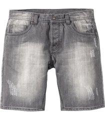 bermuda in jeans loose fit (grigio) - rainbow