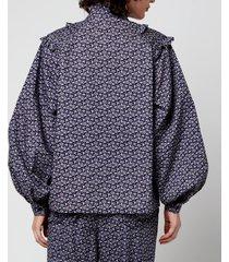 résumé women's chelsea blouse - navy - dk 42/uk 12