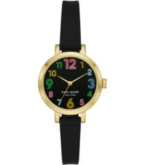 kate spade new york metro black silicone watch 30mm