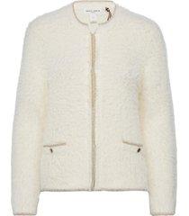 indoor jacket sanna stickad tröja cardigan vit lindex