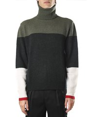 j.w. anderson sweater with high neck color block design