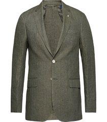 o1. the linen herringb blazer s blazer colbert groen gant