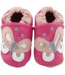 pantufa catz calçados infantil couro nicky borboleta feminina - feminino