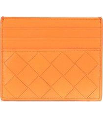 bottega veneta intrecciato wallet - orange