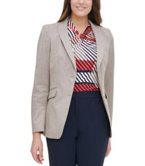 tommy hilfiger elbow-padded flap-pocket blazer