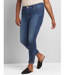 lane bryant women's signature fit skinny jean - dark wash 28 dark denim