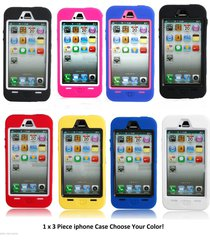 1 x 3 piece high impact protective hard case cover for iphone 5 5th gen 5s new