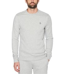 original penguin men's sticker pete fleece long sleeve sweatshirt