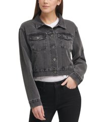 dkny jeans knit trucker jacket