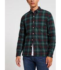 mens levi's green check long sleeve shirt