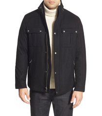 men's cole haan melton coat, size medium - black