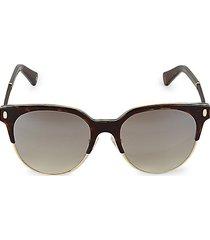 52mm round faux tortoiseshell sunglasses
