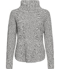 cable knit turtleneck sweater turtleneck polotröja grå gap