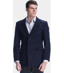 blazer de lã belfast azul marinho