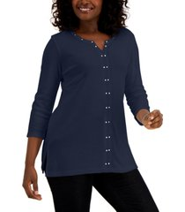 karen scott stud-trim tunic, created for macy's