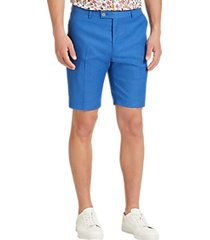 paisley & gray slim fit suit separates shorts french blue