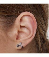 orecchini in argento 925 a forma di orecchini a clip per orecchini a clip a forma di anello in argento 925