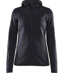 craft vest women eaze sweat hood black