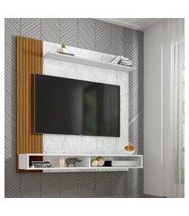 painel para tv até 55 pol oslo móveis bechara 2 prateleiras 2 nichos