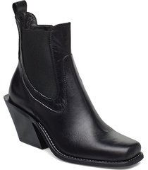 rene shoes boots ankle boots ankle boots with heel svart nude of scandinavia
