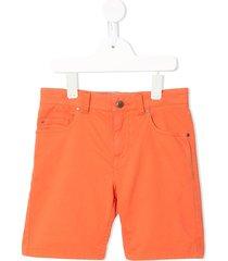 velveteen dexter five pocket shorts - orange