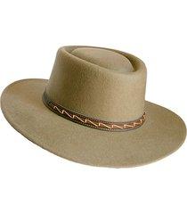 sombrero fieltro ecuestre verde oliva talla m viva felicia