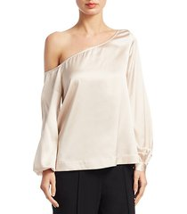 nevia one-shoulder blouse