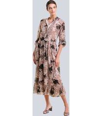 jurk alba moda bruin::hazelnoot