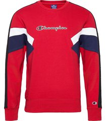 crewneck sweatshirt sweat-shirt tröja röd champion