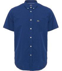 lacoste marine gingham poplin shirt ch9608