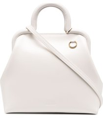 jil sander small square-shape tote bag - white
