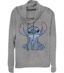 fifth sun juniors disney lilo stitch simply stitch fleece cowl neck sweatshirt