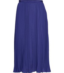 pf crepe lht pleated midi skrt rok knielengte blauw french connection