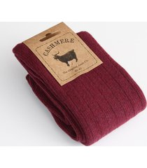 cashmere blend burgundy men's socks