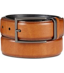 men's reversible textured alfani feather-edge belt, created for macy's