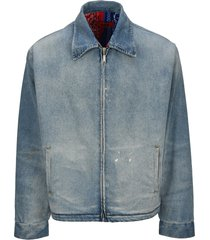 424 zip-up denim jacket