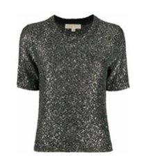 michael michael kors camiseta com efeito de brilho - prateado